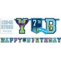 Add an Age Monsters University Birthday Banner 10ft