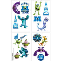Monsters University Tattoos 1 Sheet