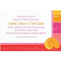 Warm Sea Custom Invitation