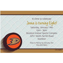 Anaheim Ducks Custom Invitation