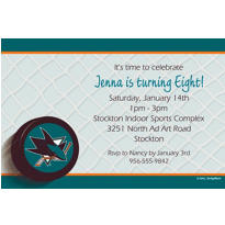 San Jose Sharks Custom Invitation
