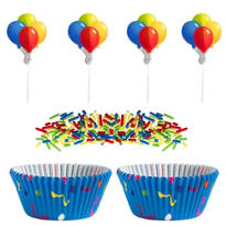 Colorful Balloon Cupcake Decorating Kit