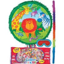 Pull String Jungle Animals Pinata Kit