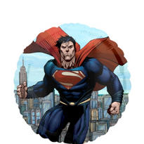Foil Man of Steel Superman Balloon 18in