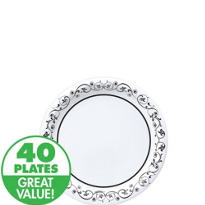 Fancy Scroll Dessert Plates 40ct