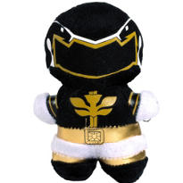 Clip-On Black Power Ranger Plush