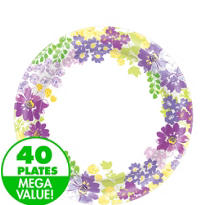 Floral Bloom Lunch Plates 40ct