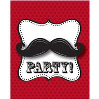 Moustache Invitations 8ct