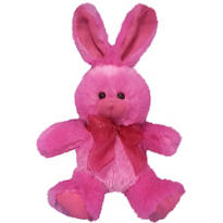 Bright Pink Easter Bunny Plush