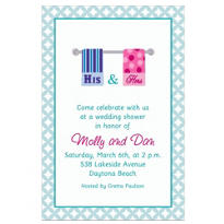 His and Hers Towels Custom Bridal Shower Invitation