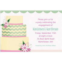 Modern Wedding Cake Custom Wedding Invitation