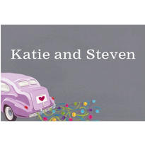 Just Wed Buggy Custom Wedding Thank You Note