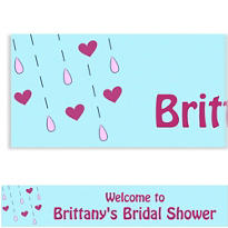 It's Raining Love Custom Bridal Shower Banner