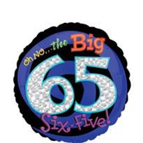 65th Birthday Balloon - Round Oh No!