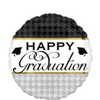 Foil Houndstooth Graduation Balloon
