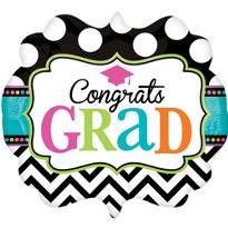 Foil Marquee Bright Congrats Grad Balloon