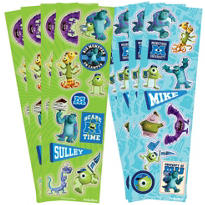 Monsters University Stickers 8 Sheets