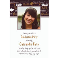 Custom Key To Success Graduation Photo Invitations