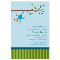 Monkey on a Branch Custom Invitation