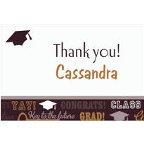 Custom Key To Success Graduation Thank You Notes