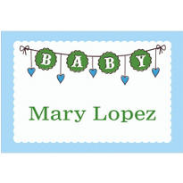 Baby Clothesline Boy Custom Thank You Note
