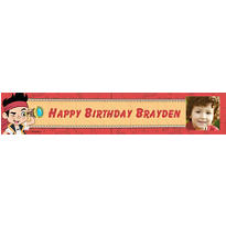 Jake and the Neverland Pirates Custom Photo Banner