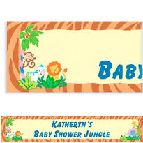 Jungle Baby Shower Custom Banner