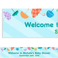 Umbrella Shower Custom Banner