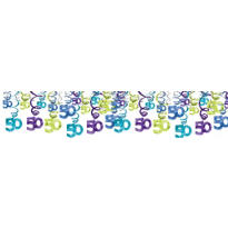 The Party Continues 50th Birthday Swirl Decorations 30ct