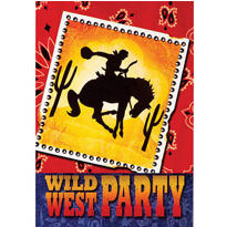 Wild West Party Invitations 8ct
