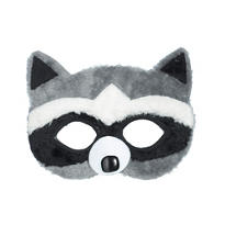 Child Plush Raccoon Mask