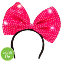 Light-Up Sequin Bow Headband