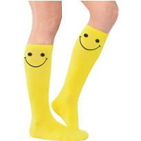 Smiley Yellow Knee Socks