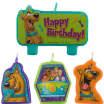 Scooby-Doo Birthday Candles 4ct
