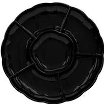 Black Plastic Sectional Platter