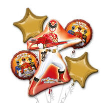 Power Rangers Balloon Bouquet 5pc