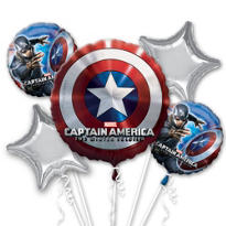 Captain America Balloon Bouquet 5pc