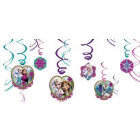 Frozen Swirl Decorations 12ct