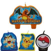 Pokemon Birthday Candles 4ct