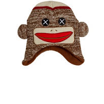 Child Sock Monkey Peruvian Hat