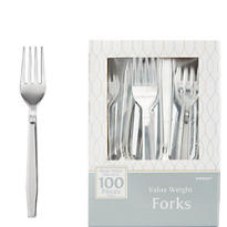 Silver Look Forks 100ct