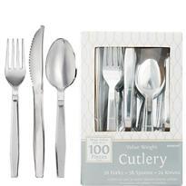 Silver Look Cutlery 100ct