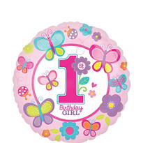 Sweet Girl 1st Birthday Balloon