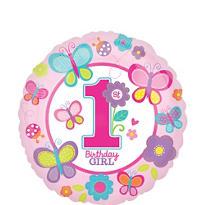 Sweet Girl 1st Birthday Balloon
