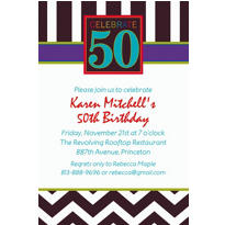 50th Celebration Custom Invitation