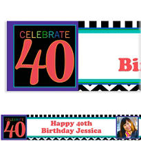 40th Celebration Custom Photo Banner