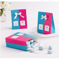 Little Man, Little Miss Gender Reveal Favor Boxes 12ct