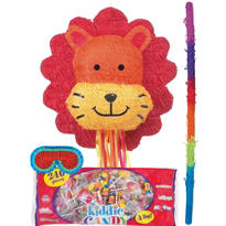 Pull String Lion Pinata Kit