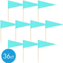 Robin's Egg Blue Cupcake Picks 36ct