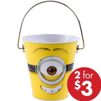 Despicable Me Minion Metal Pail